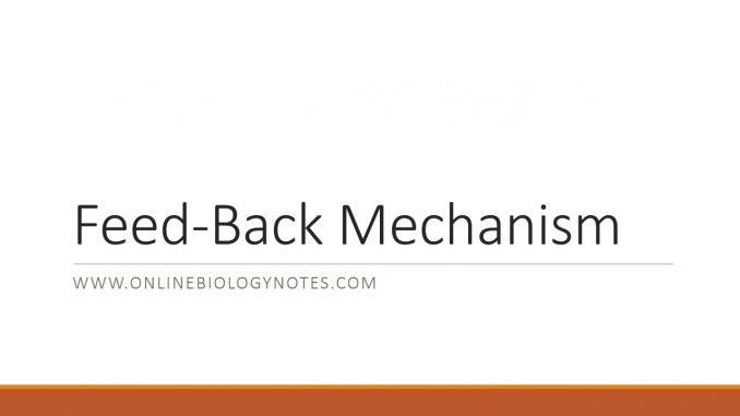 Feedback Mechanism-Negative feedback and Positive feedback