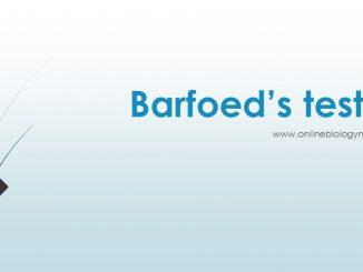 barfoed test